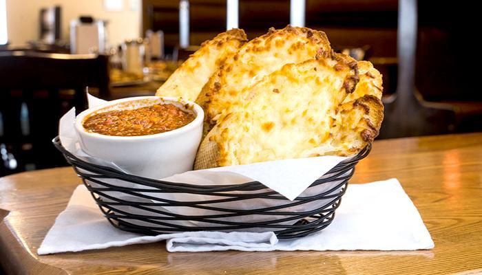 Adagio's Pizza Factory garlic bread
